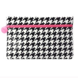 Ipsy Houndstooth Glam Cosmetic Makeup Bag